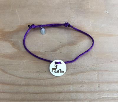 Token's - Bracelet cordon - Cerf famille