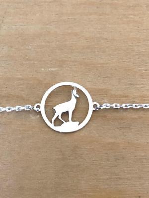 Bracelet sur chaîne Argent 925/1000 - Chamois