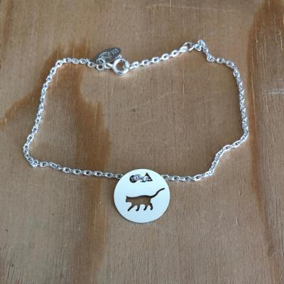 Token's - Bracelet chaine - Chat debout