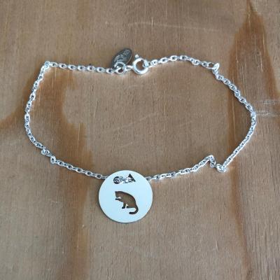 Token's - Bracelet chaine - Chat patte