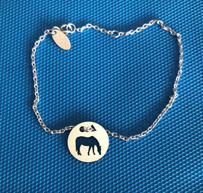 Token's - Bracelet chaine - Cheval au pré