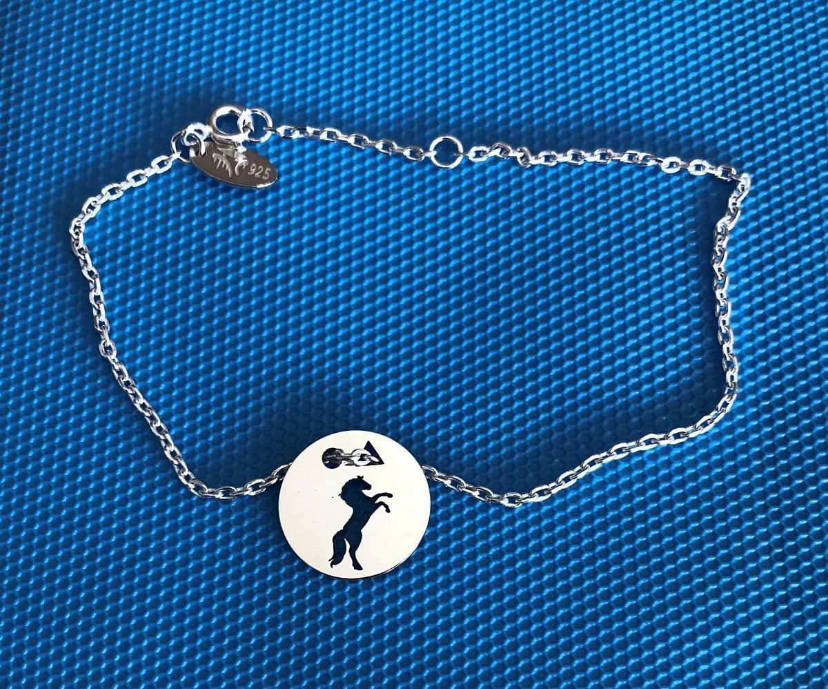 Cheval cabre brac chaine f bleu