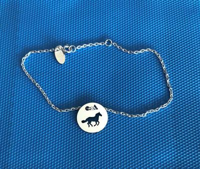 Token's - Bracelet chaine - Cheval galop