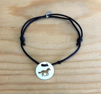 Token's - Bracelet cordon - Cheval galop