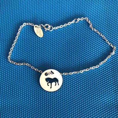 Token's - Bracelet chaine - Cheval piaffe