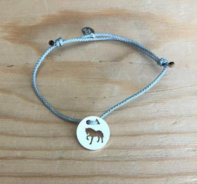 Token's - Bracelet cordon - Cheval piaffe