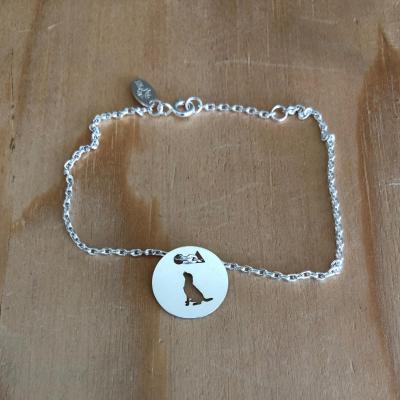 Token's - Bracelet chaine - Chien assis
