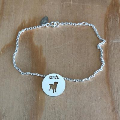Token's - Bracelet chaine - Chien debout