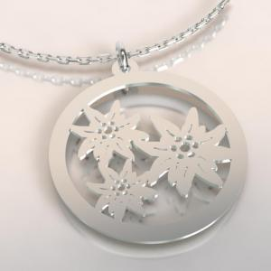 Collier 3 edelweiss