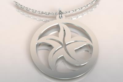 collier argent 925/1000  étoile de mer