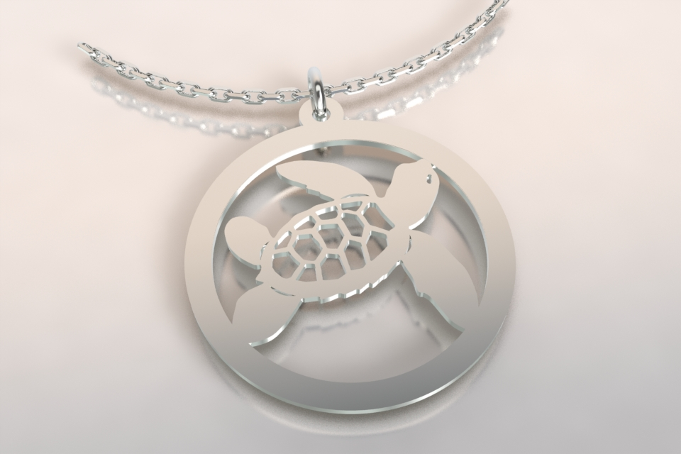 Collier jeton tortue