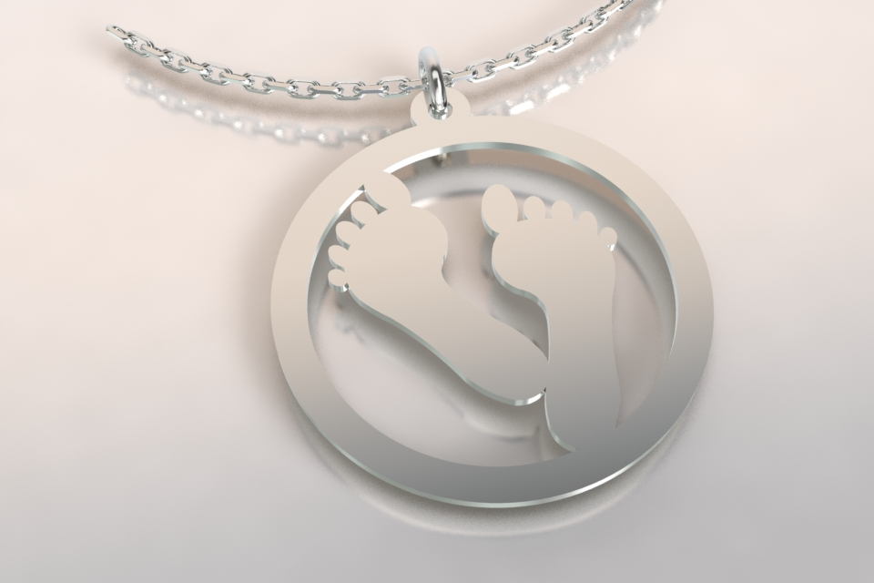 Collier pieds