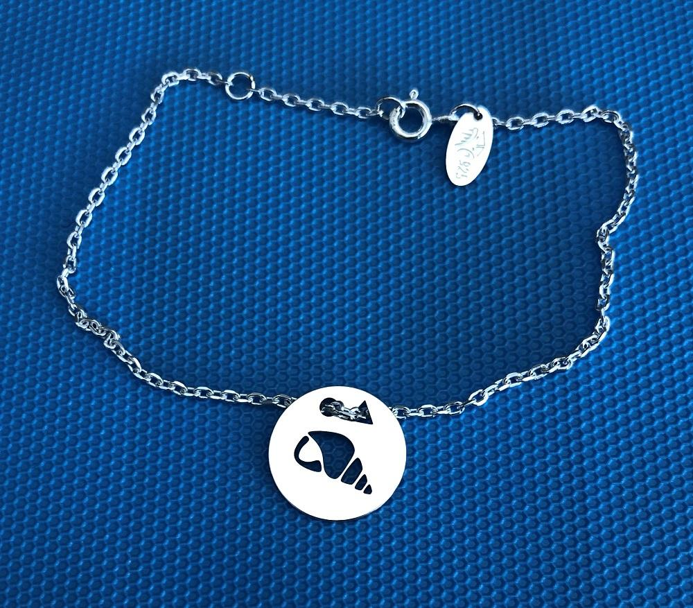 Coquillage brac chaine bleu