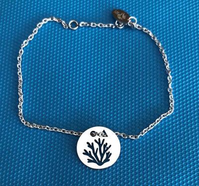 Token's - Bracelet chaine - Corail