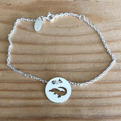 Token's - Bracelet chaine - Crocodile