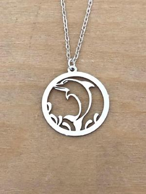 collier argent 925/1000  dauphin