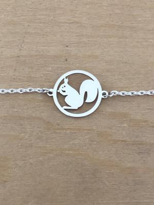 Bracelet sur chaîne Argent 925/1000 - Ecureuil