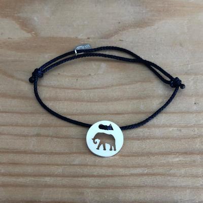 Token's - Bracelet cordon - Eléphant