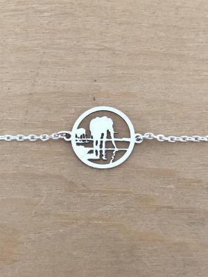 Bracelet sur chaîne Argent 925/1000 - Éléphant Reflet