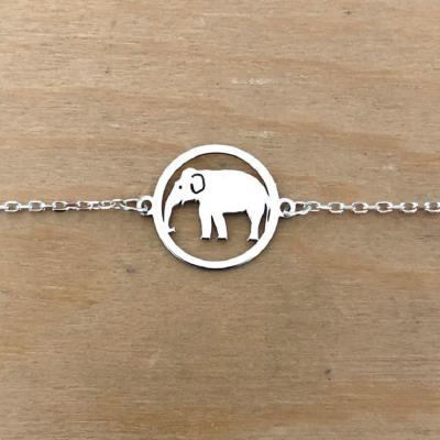 Bracelet sur chaîne Argent 925/1000 - Eléphant
