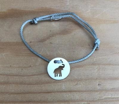 Token's - Bracelet cordon - Eléphanteau