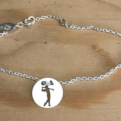 Token's - Bracelet chaine - Golfeur swing