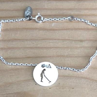 Token's - Bracelet chaine - Golfeuse bois