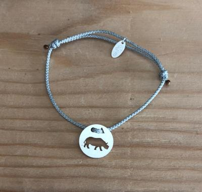 Token's - Bracelet cordon - Hippopotame