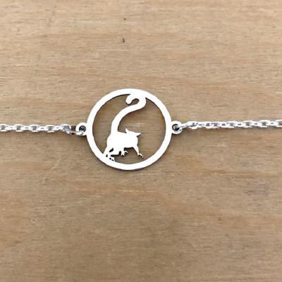 Bracelet sur chaîne Argent 925/1000 - Lémurien