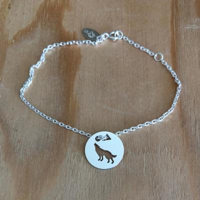 Token's - Bracelet chaine - Loup