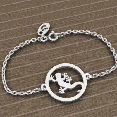 Bracelet sur chaîne Argent 925/1000 - Margouillat