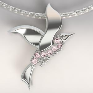 Mouette argent baby pink