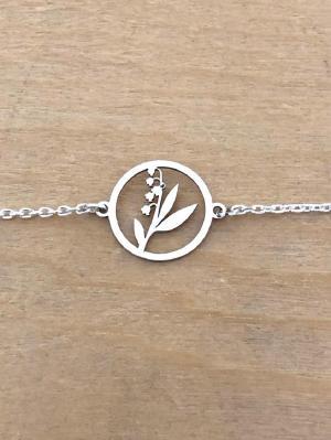 Bracelet sur chaîne Argent 925 - Muguet