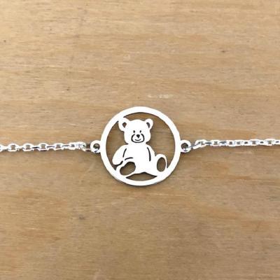 Bracelet sur chaîne Argent 925/1000 - Ourson