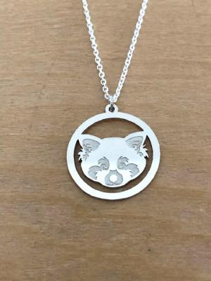 Collier en Argent 925 - Panda roux