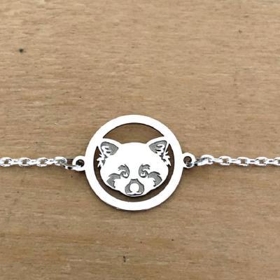 Bracelet sur chaîne Argent 925/1000 - Panda roux