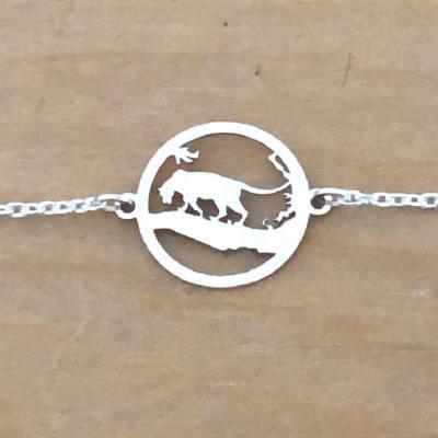 Bracelet sur chaîne Argent 925/1000 - Panthère