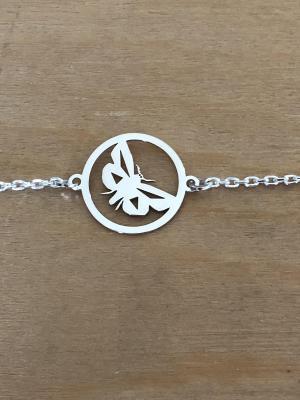 Bracelet sur chaîne Argent 925/1000 - Papillon
