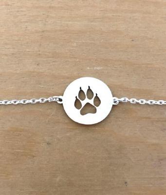 Bracelet sur chaîne Argent 925/1000 - Patte félin