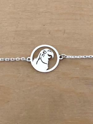 Bracelet sur chaîne Argent 925/1000 - Perroquet