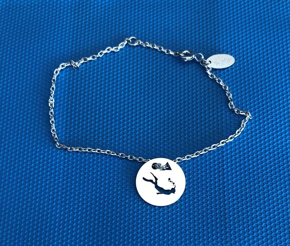 Plongeurbrac chaine bleu