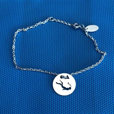 Token's - Bracelet chaine - Plongeur