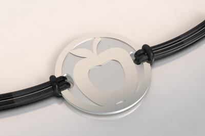 barcelet pomme argent et acier