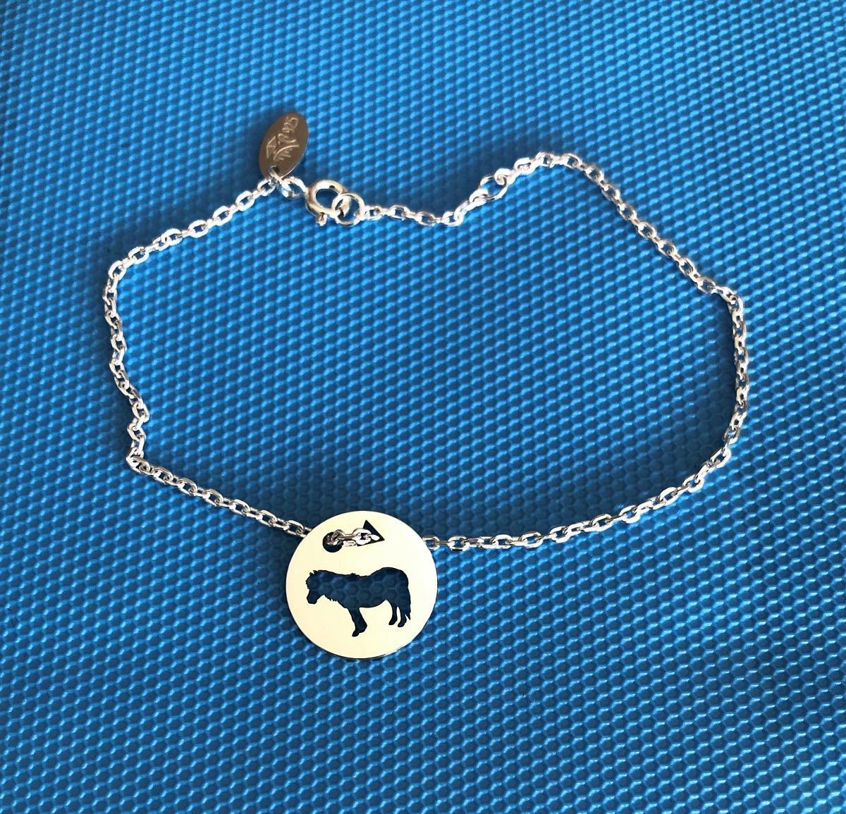 Poney brac chaine f bleu