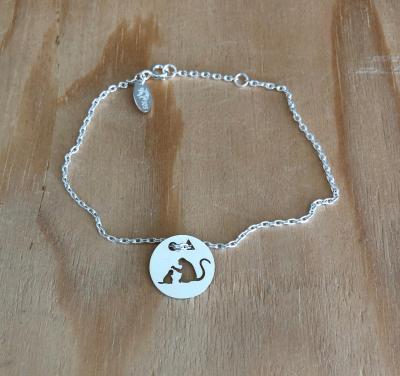 Token's - Bracelet chaine - Singe et bébé