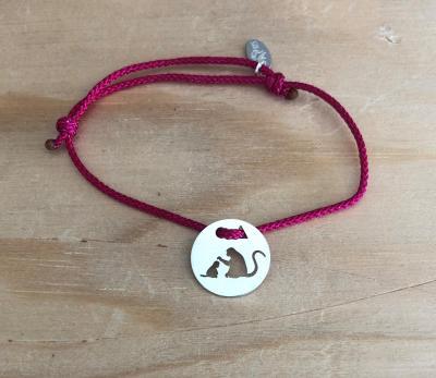 Token's - Bracelet cordon - Singe et bébé