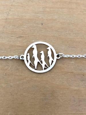 Bracelet sur chaîne Argent 925/1000 - Suricates