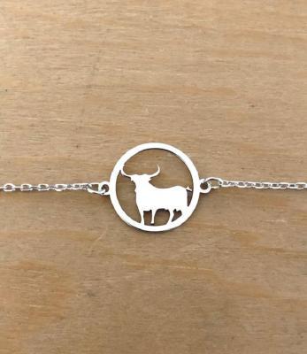 Bracelet sur chaîne Argent 925/1000 - Taureau