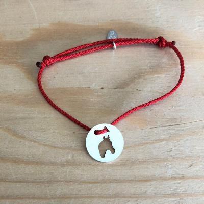 Token's - Bracelet cordon - Tête de cheval