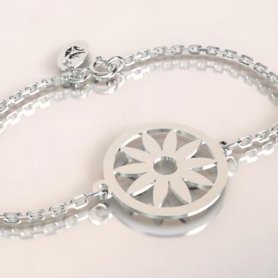 Bracelet sur chaîne Argent 925 - Tournesol